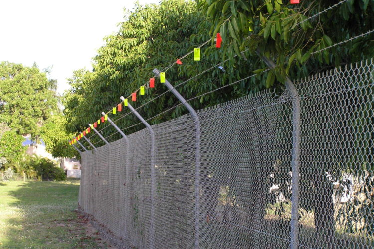 Plastic Flagging As Barbed Wire Deterrent