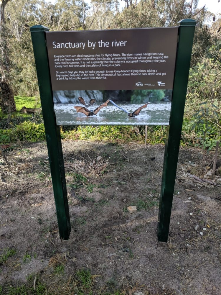 Second New Ghff Sign On Golf Course At Yarra Bend Park