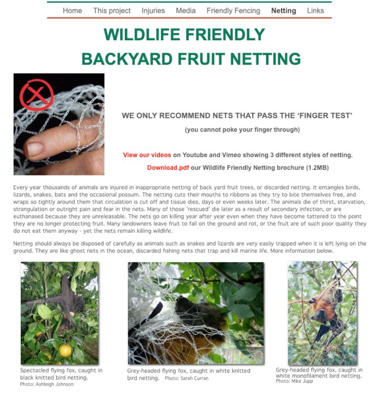 Wildlife Friendly Netting